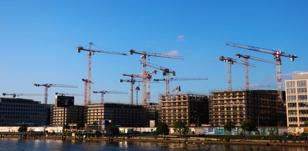 Cranes in Berlin, Germany