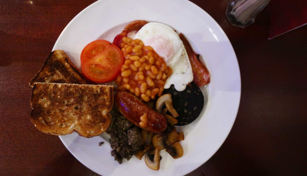 Full breakfast from the Royal McGregor in Edinburgh, Scotland