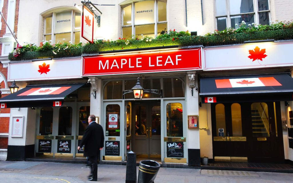 Maple Leaf Pub in London, England