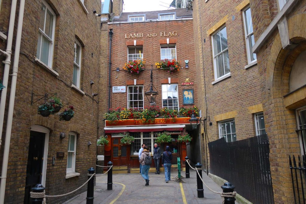 The Lamb and Flag in London, England