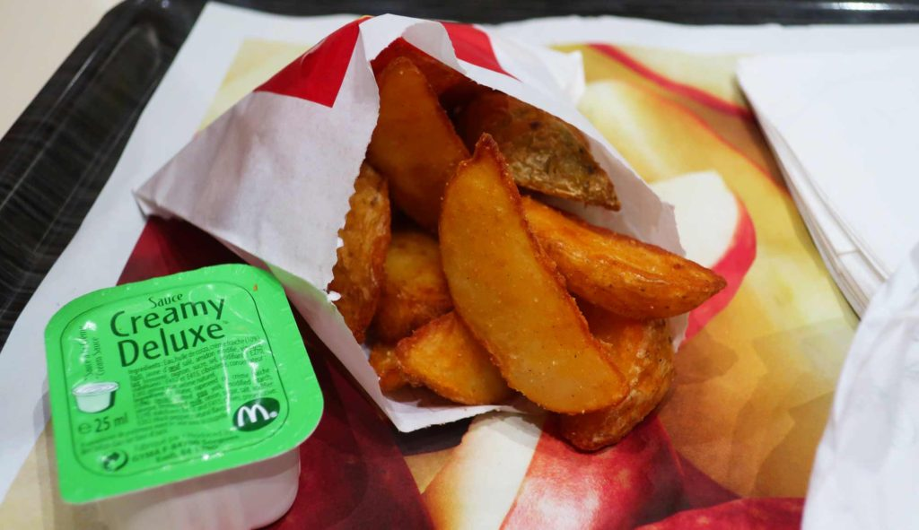 Deluxe Potatoes from McDonald's Paris