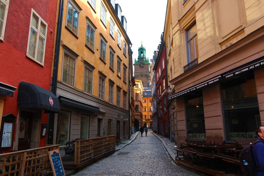 Alley in Stockholm, Sweden