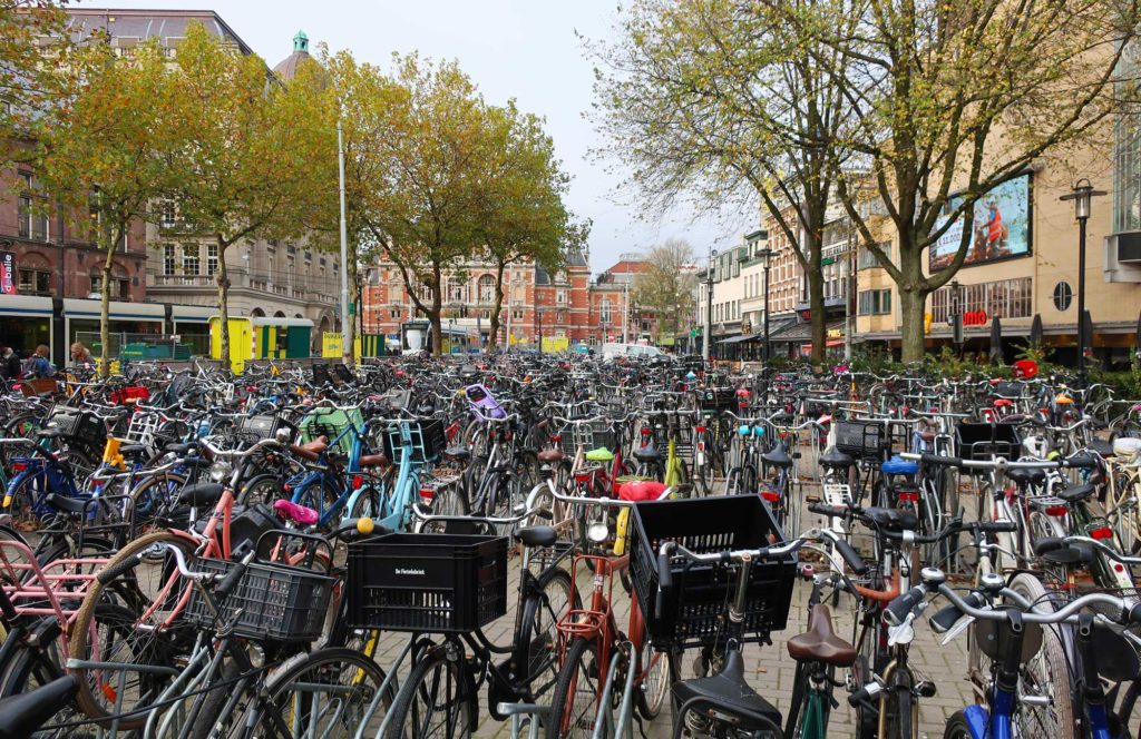 Bikes in Amsterdam, Netherlands