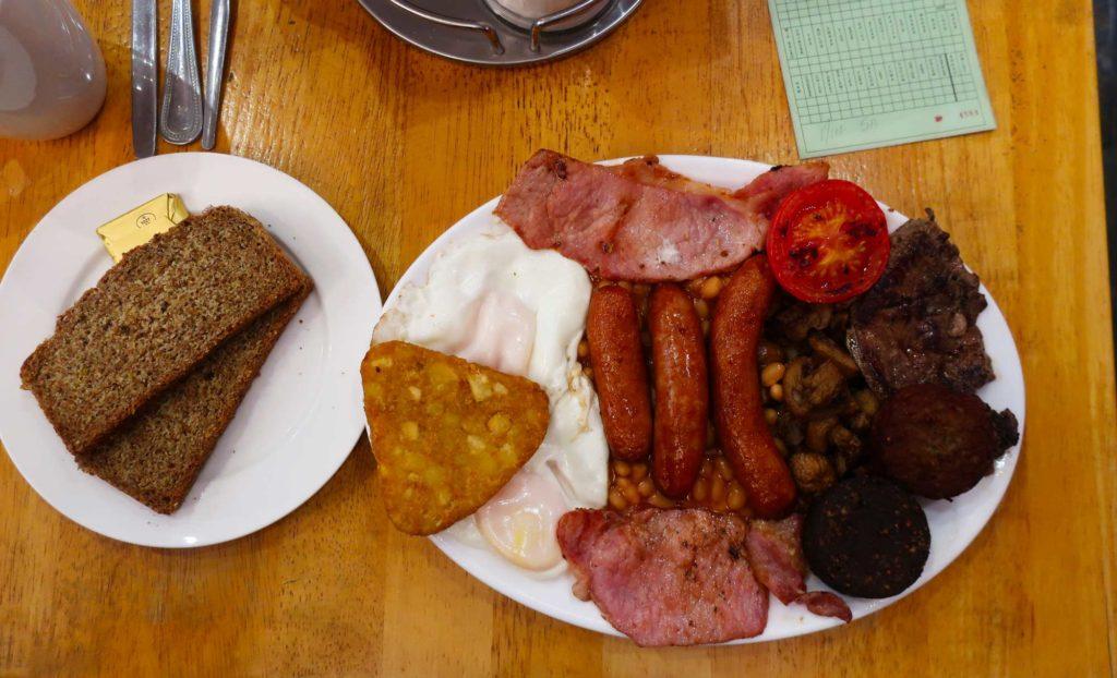 Full breakfast at Matt the Rashers in Dublin, Ireland