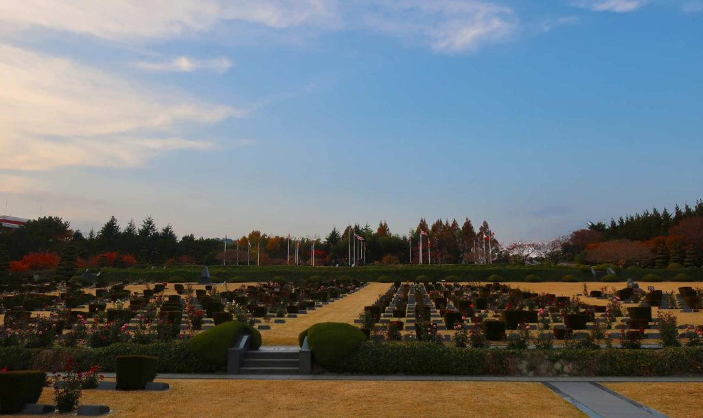 The UN Memorial Cemetery in Busan, South Korea