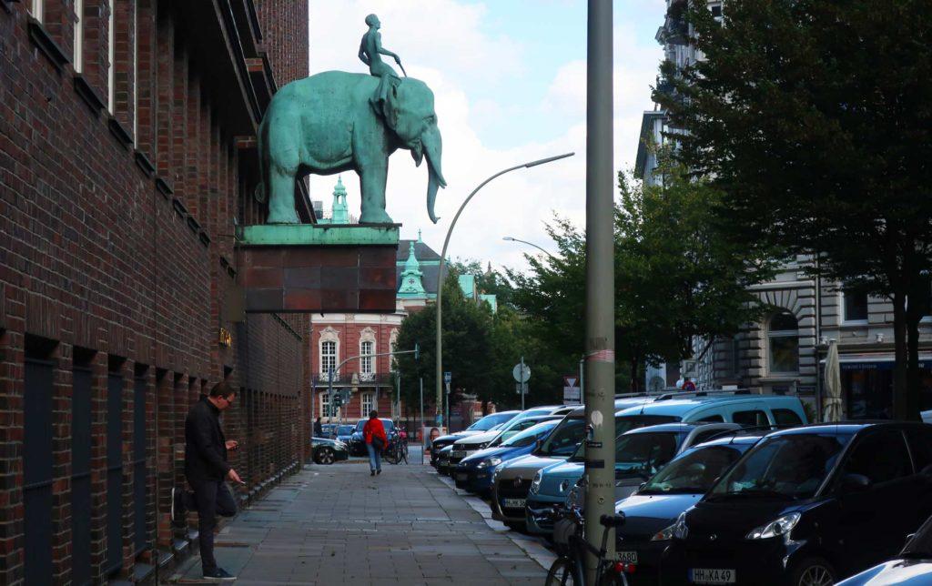 Elephant statue in Hamburg, Germany