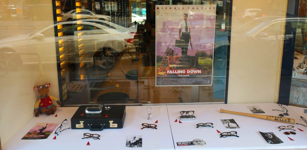 Falling Down themed eyeglasses shop in Hamburg, Germany