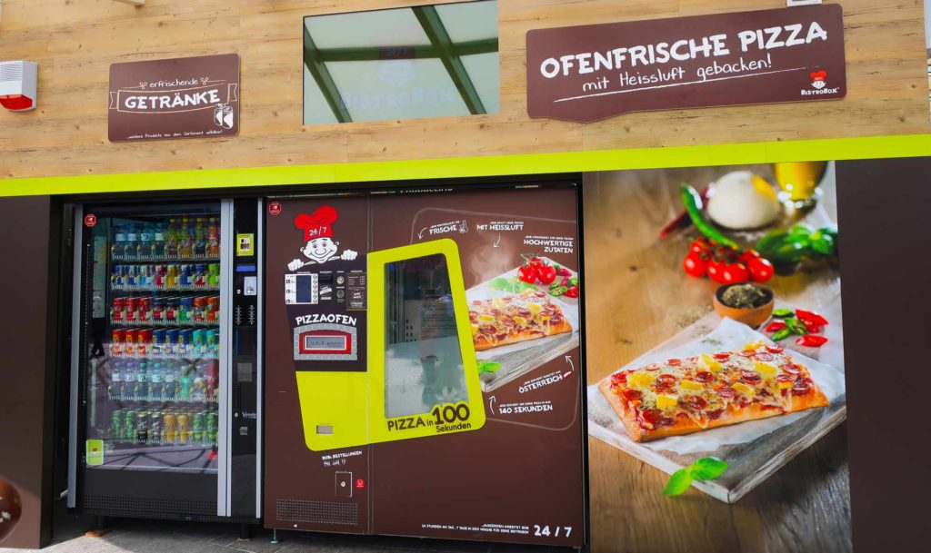 Vending machine pizza in Vienna, Austria