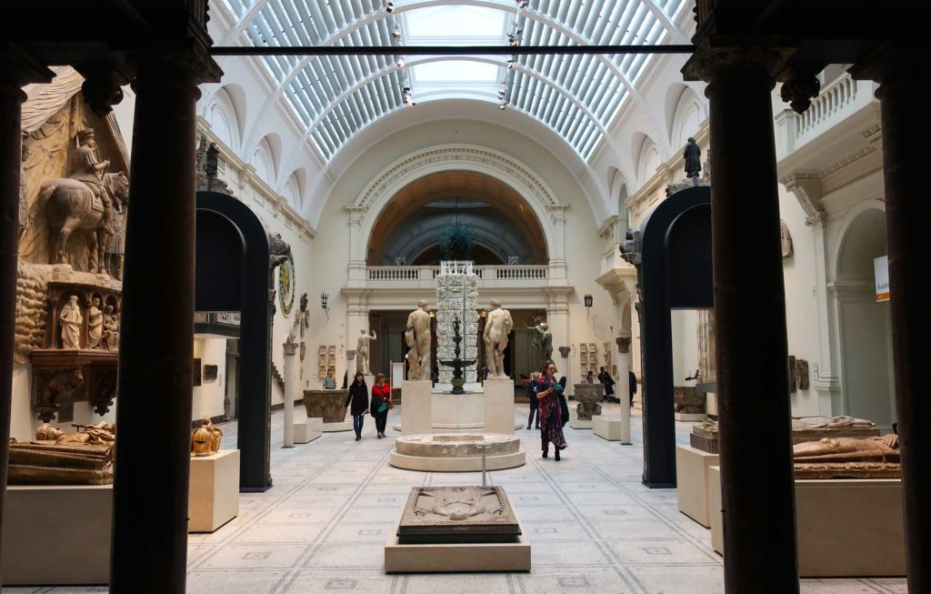 The Victoria and Albert Museum in London, England