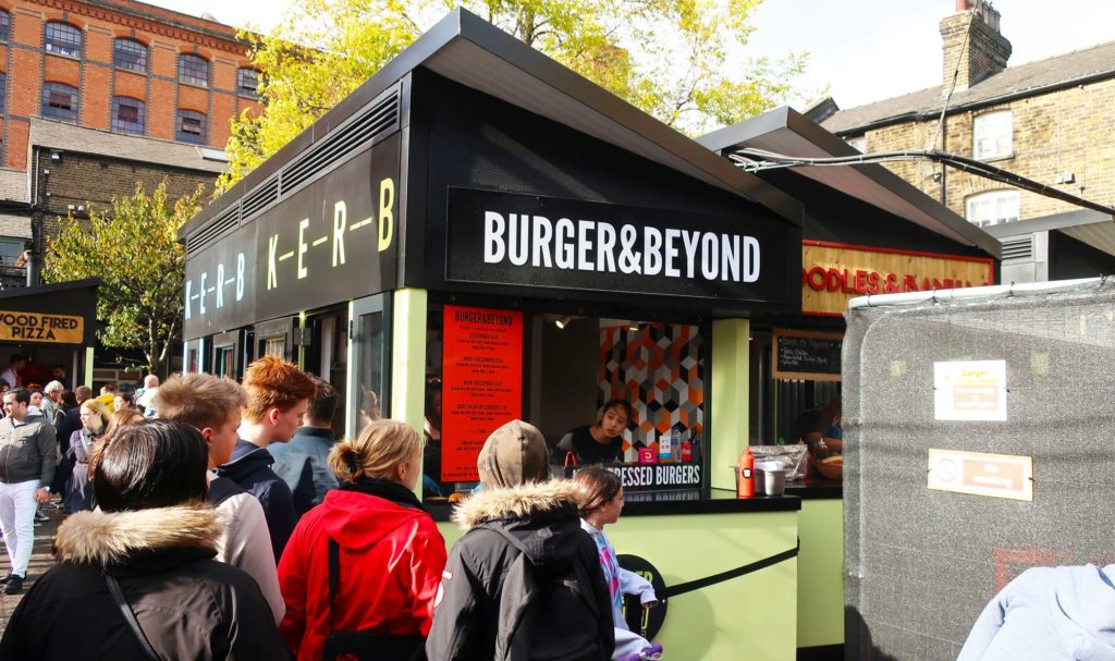 Burger and Beyond at the Camden Market in London, England
