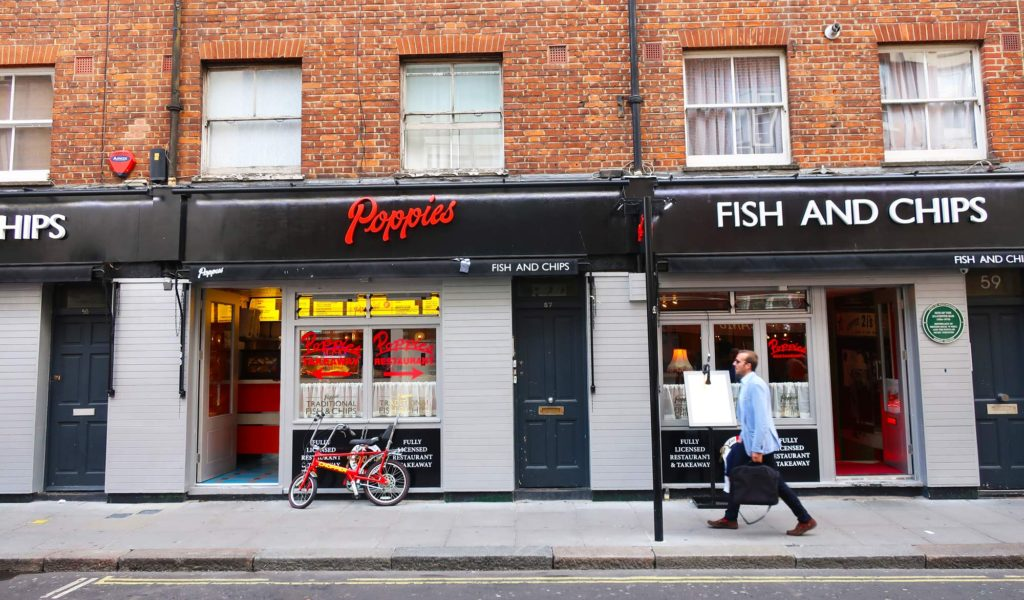 Poppies Fish and Chips in London, England