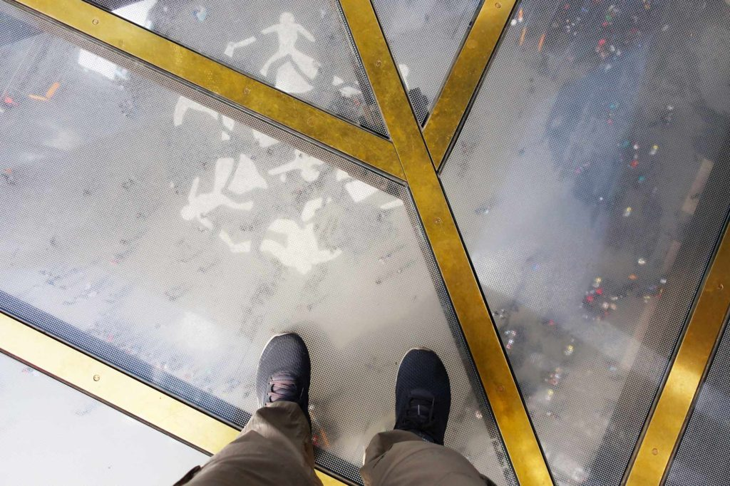 Looking down in the Eiffel Tower