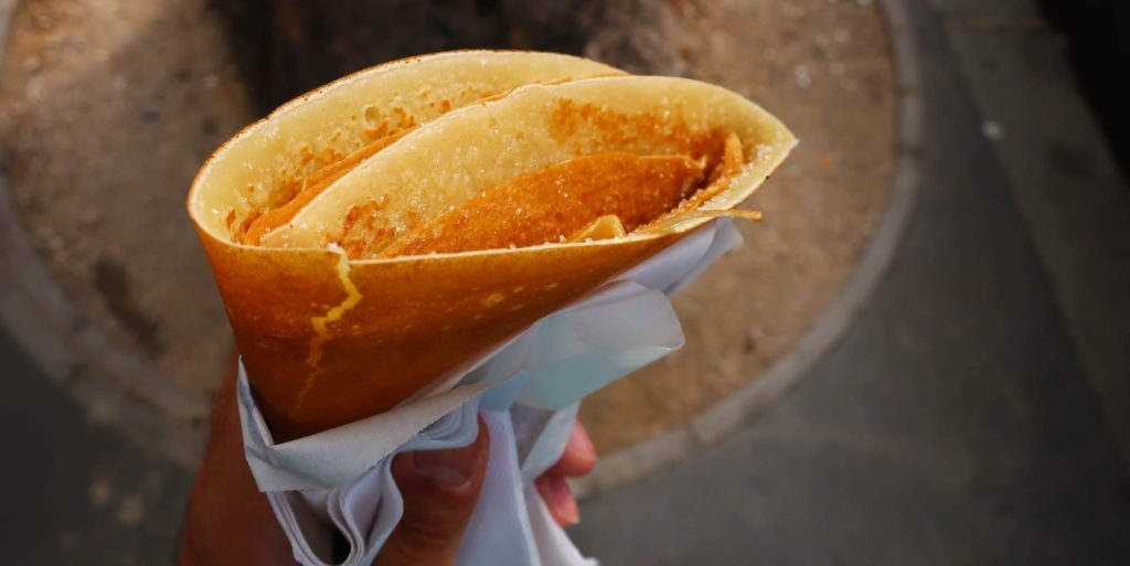 Crepe with butter and sugar