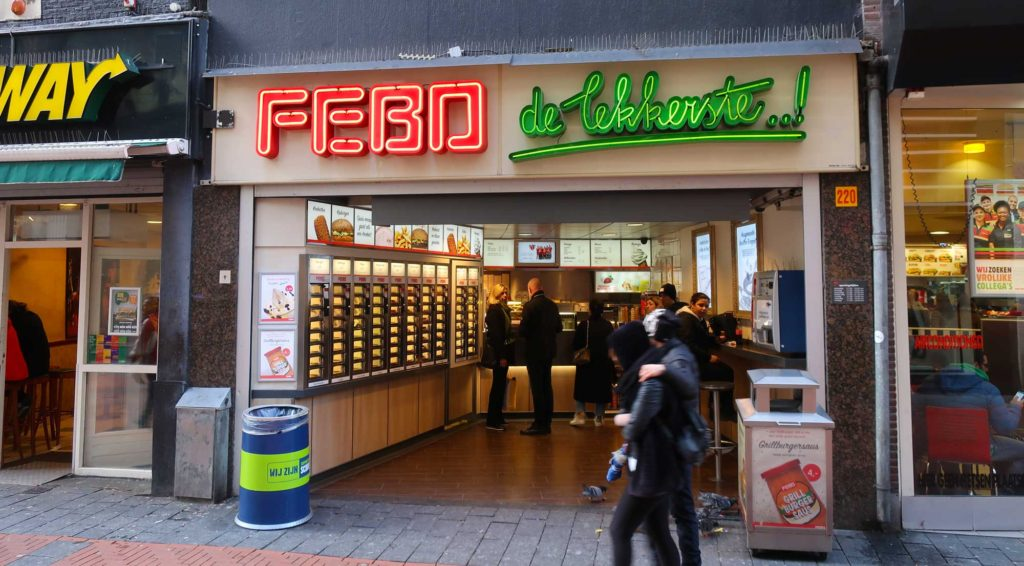 Kroket from Febo in Amsterdam, Netherlands