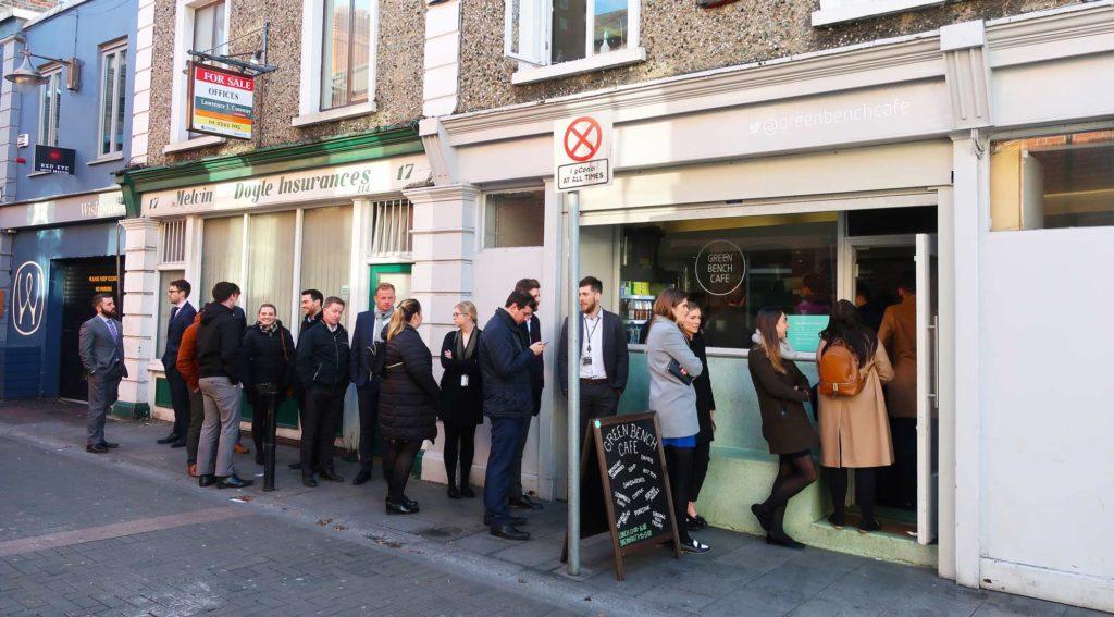 The Green Bench Cafe in Dublin, Ireland