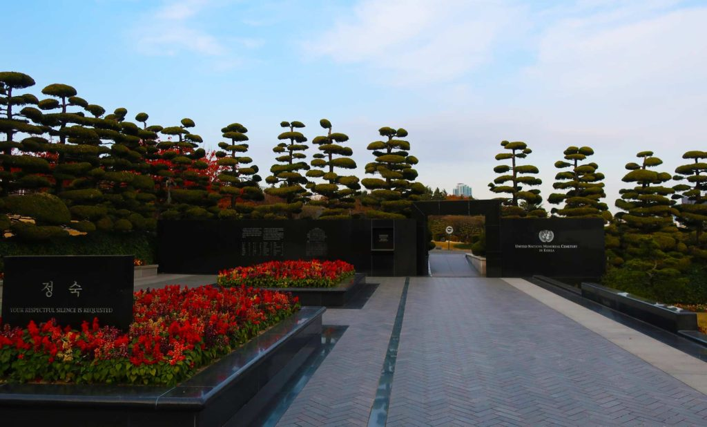 The UN Memorial Cemetery in Busan, South Korea
