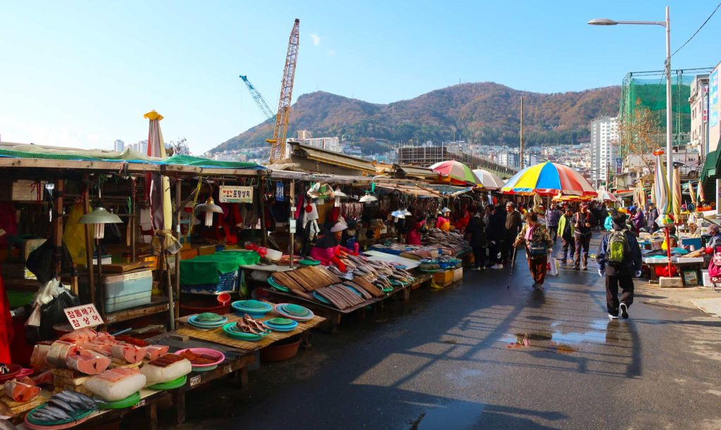 Jagalchi Market in Busan, South Korea