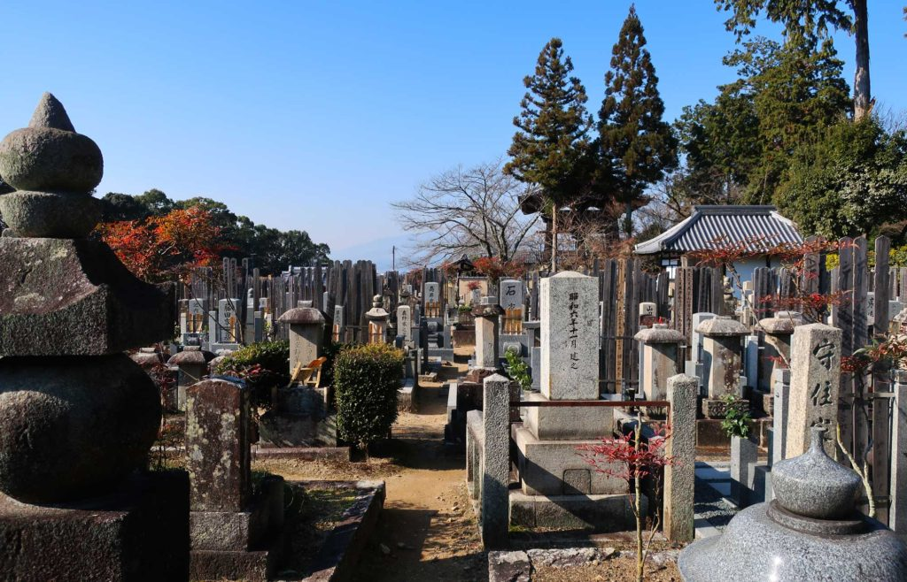Temple cemeteries in Kyoto, Japan