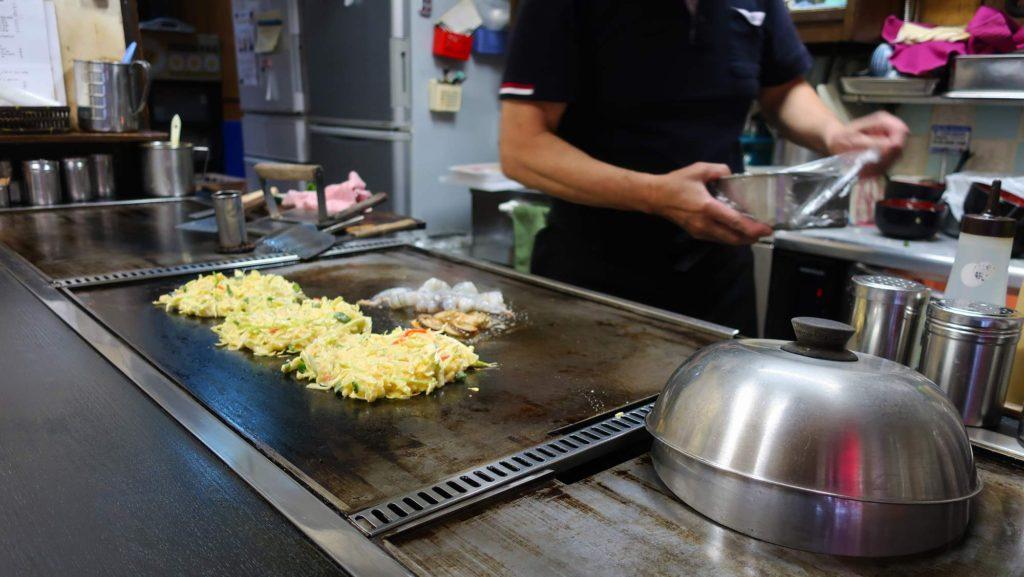 Okonomiyaki Chitose in Osaka, Japan