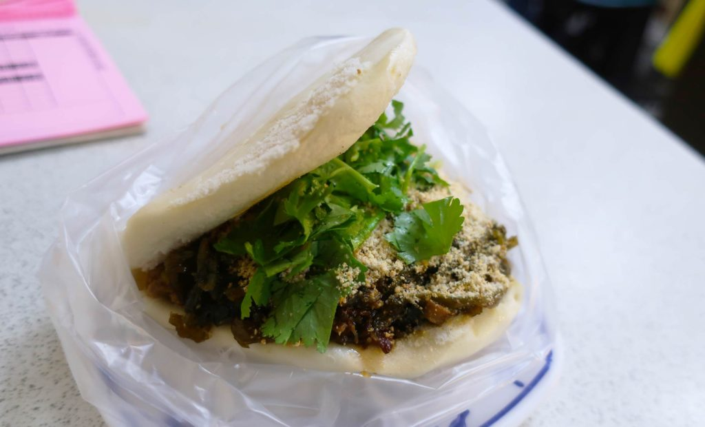 Pork Belly Bun in Taipei